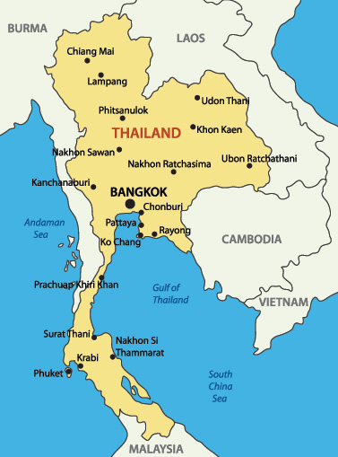 Thailand Visa City Map